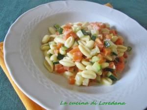 cavatelli con zucca e zucchine