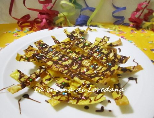 Nastri fritti di Carnevale – Ricetta semplice