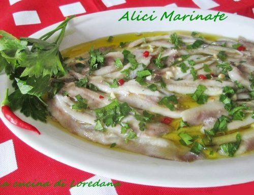 Alici marinate – Ricetta pesce azzurro