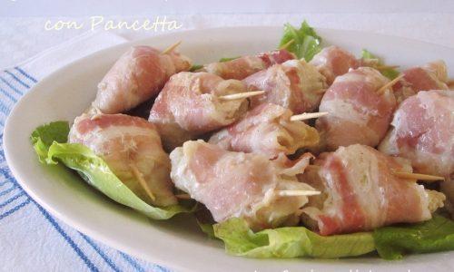 Bocconcini di pollo con pancetta