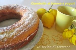 ciambella al limone e yogurt