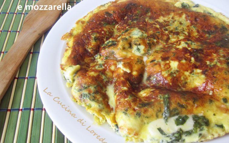 Frittata con Spinaci e Mozzarella