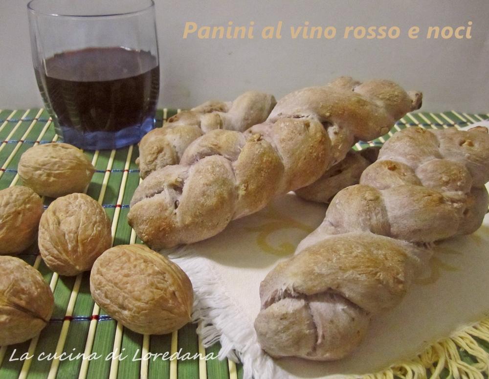 panini al vino rosso e noci