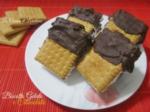 biscotti gelato e cioccolato