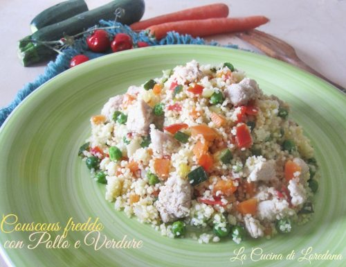 Couscous freddo con pollo e verdure