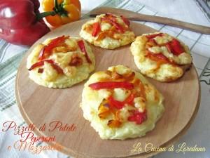 pizzette di patate e peperoni