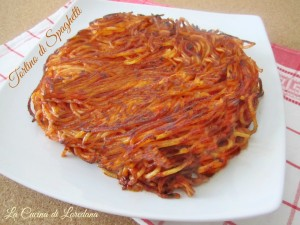 tortino di spaghetti