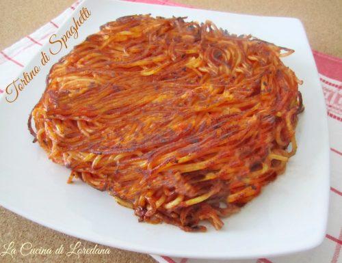 Tortino di Spaghetti in Padella