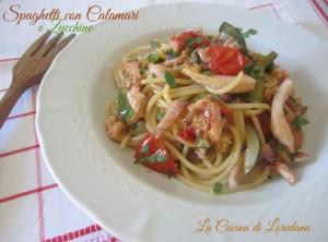 spaghetti con calamari e zucchine