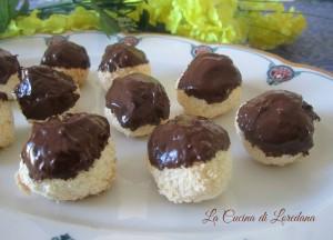 biscotti di cocco e cioccolato