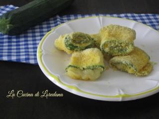 rotolini di zucchine croccanti
