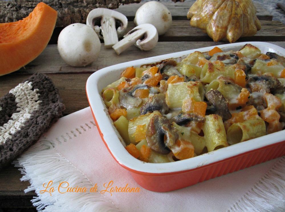 Pasta zucca e funghi la cucina di loredana - Cucina con loredana ...