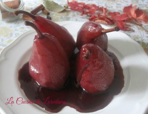 Pere al Vino rosso caramellate