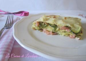 lasagne con salmone e zucchne