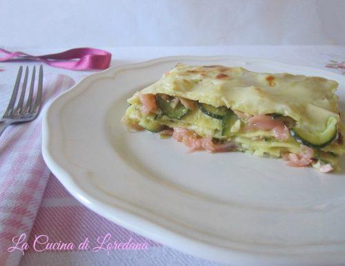 Lasagne con salmone e zucchine