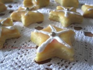 stelline con glassa al limone