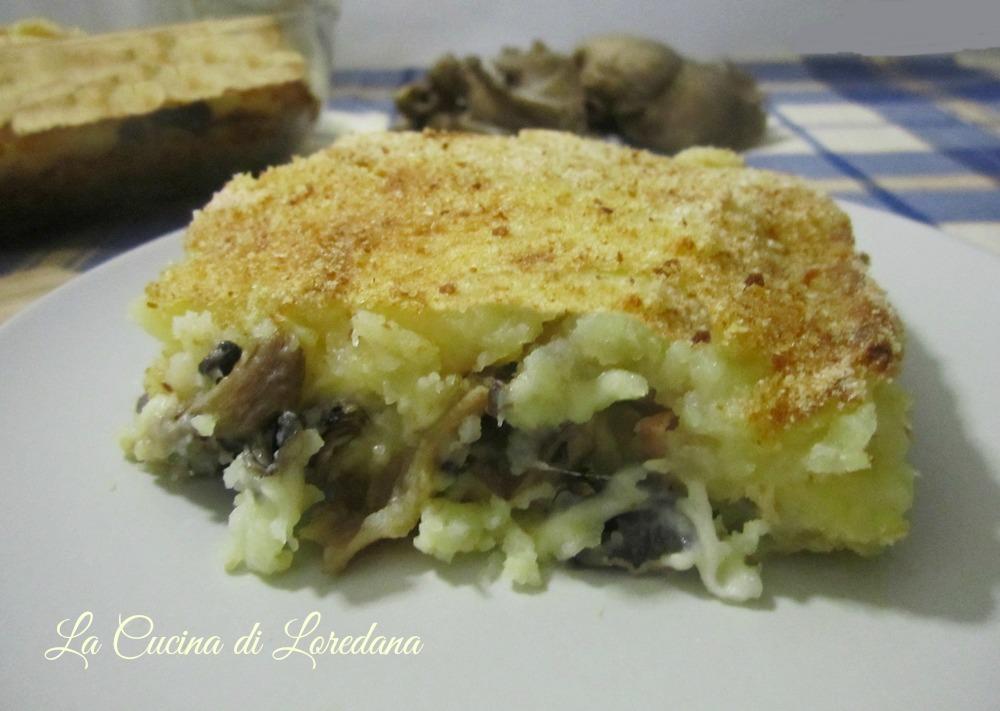 Torta di patate con funghi la cucina di loredana - Loredana in cucina ...