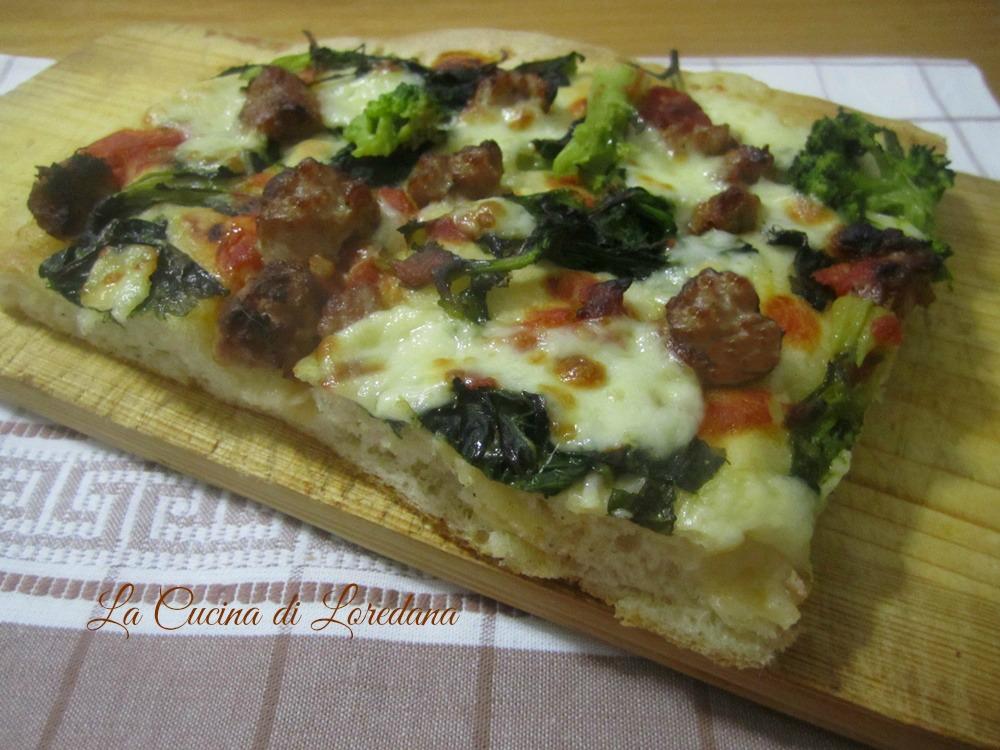 Pizza soffice con cime di rapa for Pizza con planetaria