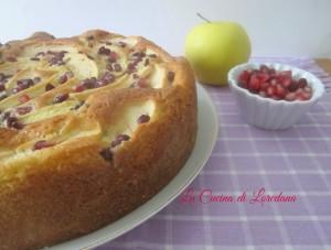 torta di mele e melagrana
