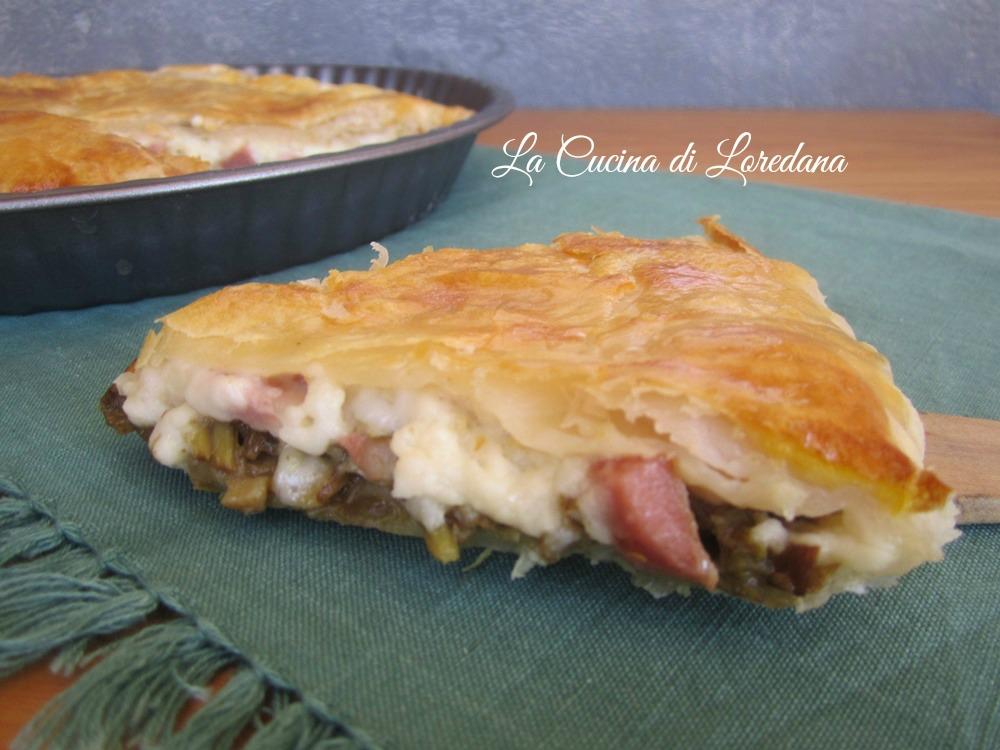Torta salata con carciofi la cucina di loredana - Loredana in cucina ...