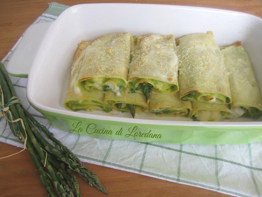 crepes con asparagi