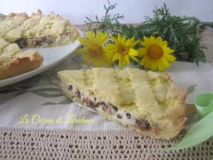 crostata con ricotta e cioccolato
