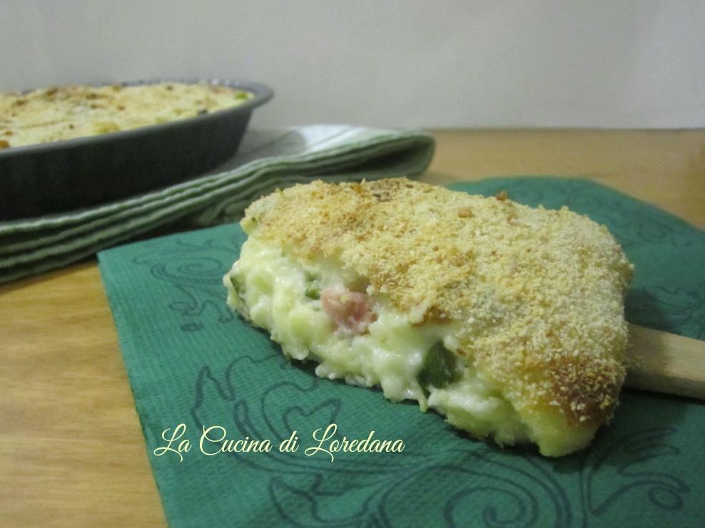 torta di semolino con zucchine