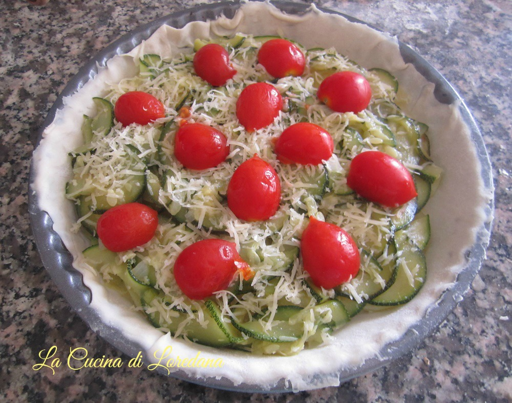 crostata salata con zucchine