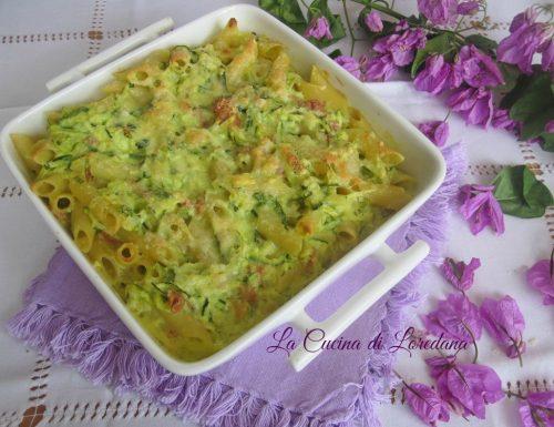 Pasta gratinata con Zucchine