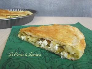 torta salata con zucchine e formaggio
