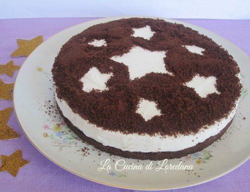 Torta fredda con Biscotti al cacao