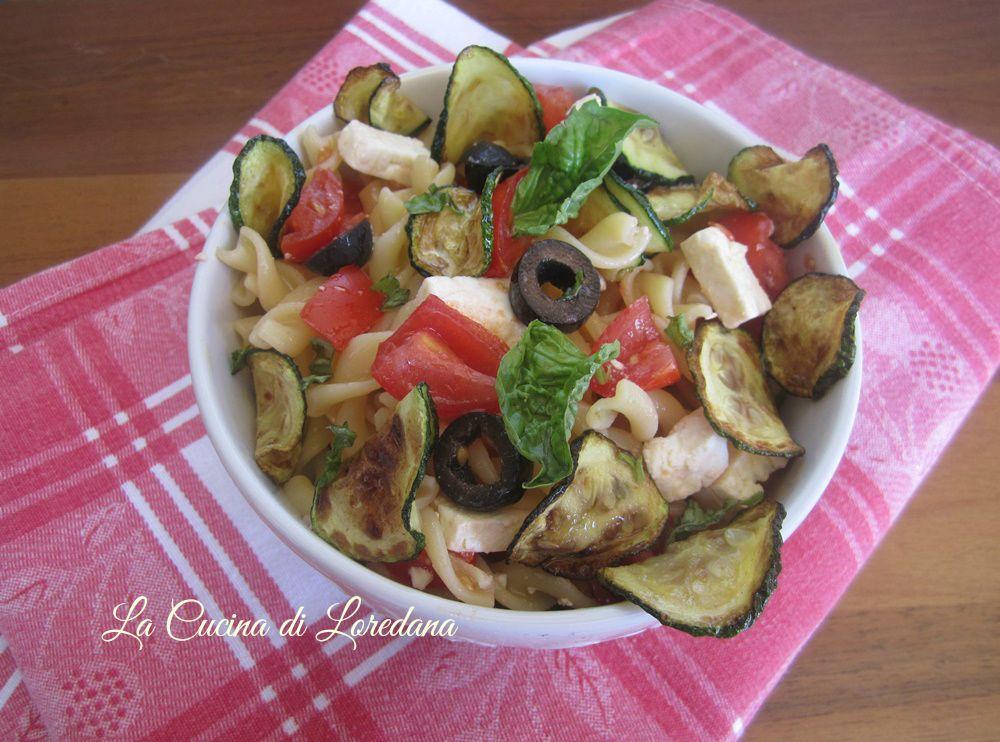 Pasta fredda con zucchine la cucina di loredana - Cucina con loredana ...