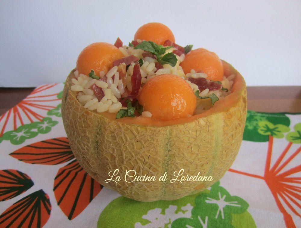 Insalata di riso con melone la cucina di loredana - Loredana in cucina ...