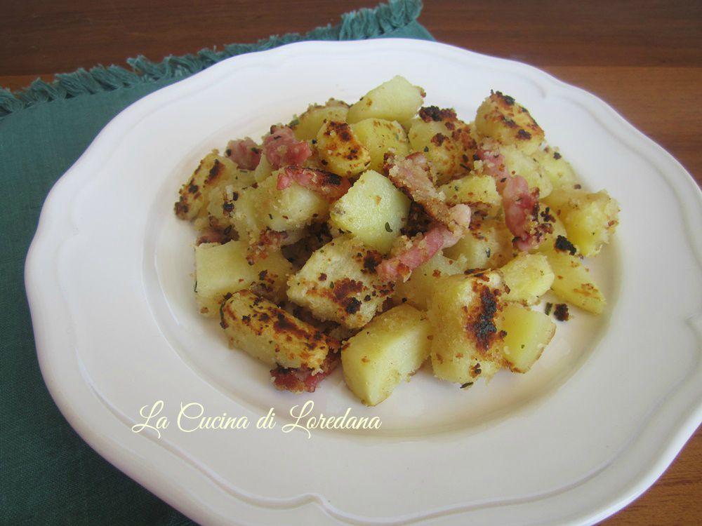 patate con pancetta in padella