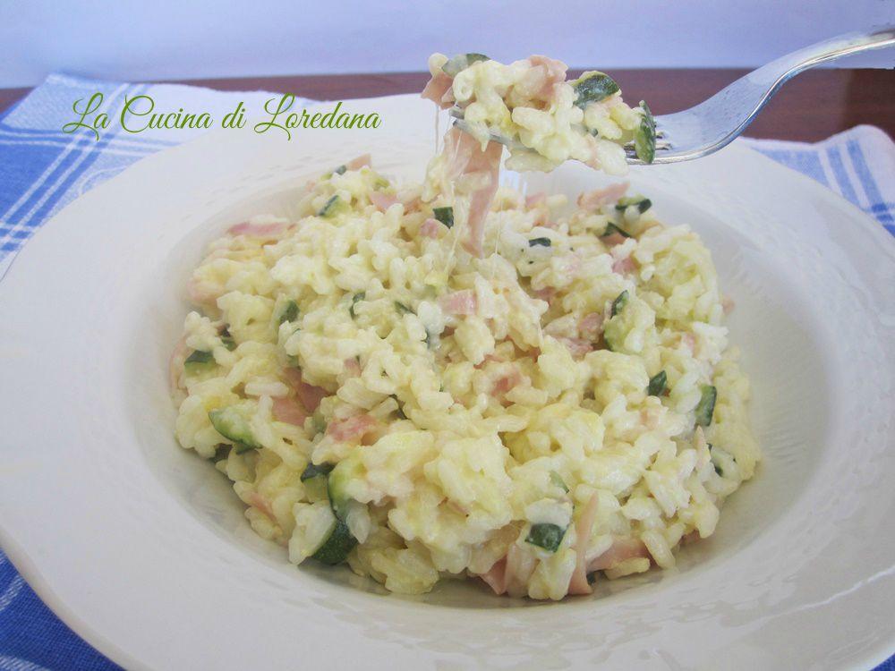 Riso al telefono con zucchine la cucina di loredana - Cucina con loredana ...