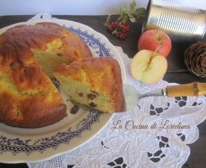torta di mele con ricotta e uvetta
