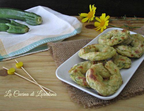 Ciambelle di zucchine
