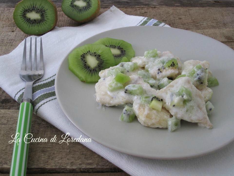 bocconcini di pollo al kiwi