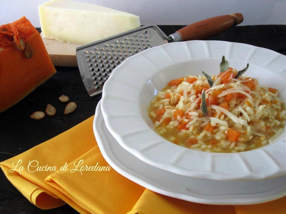risotto con zucca e formaggio