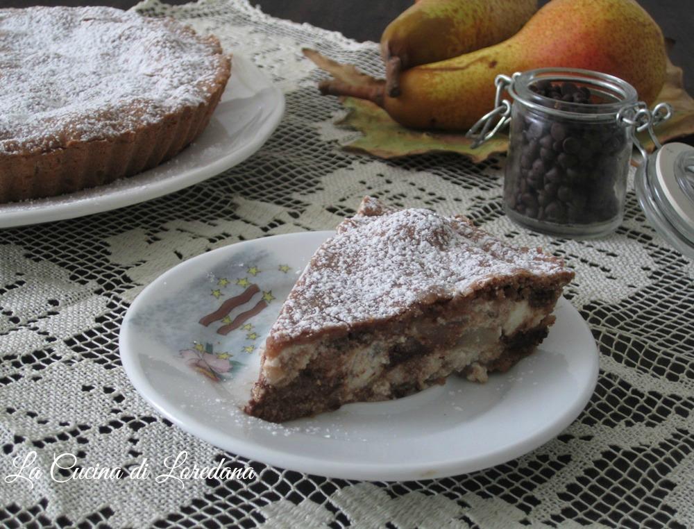 torta pere e ricotta