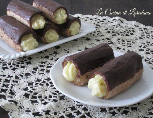 Cannoli crema e cioccolato
