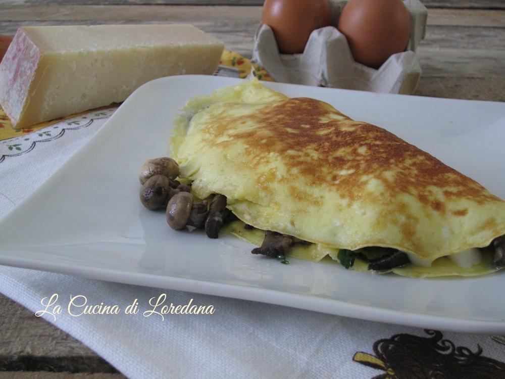 Omelette con funghi la cucina di loredana migliori - La cucina di loredana ...