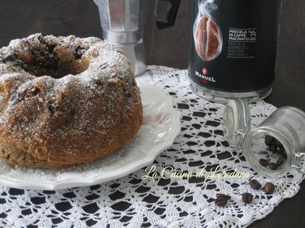 ciambella caffè e cioccolato