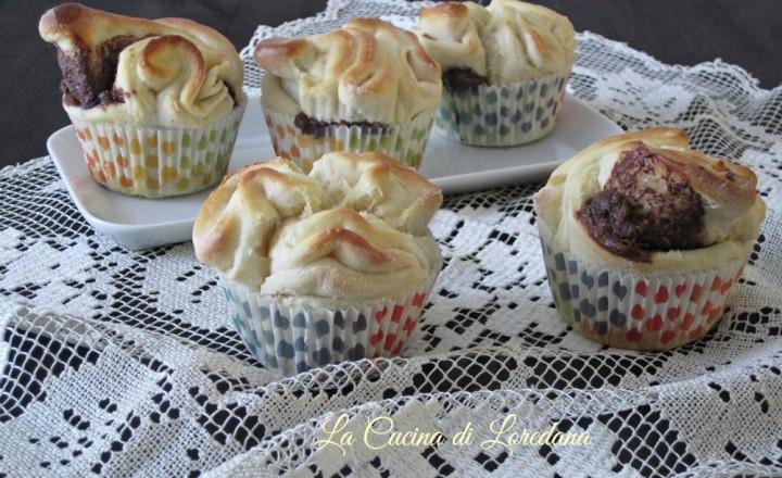 Muffin di rose alla nutella