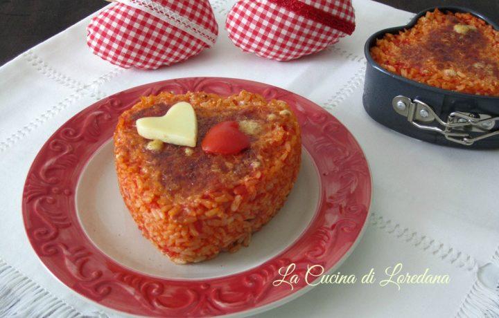 Cuore di riso filante