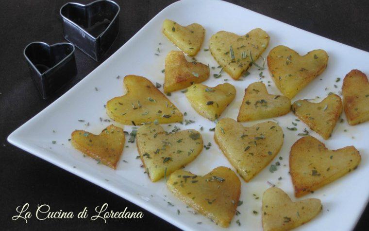 Cuori di patate al forno