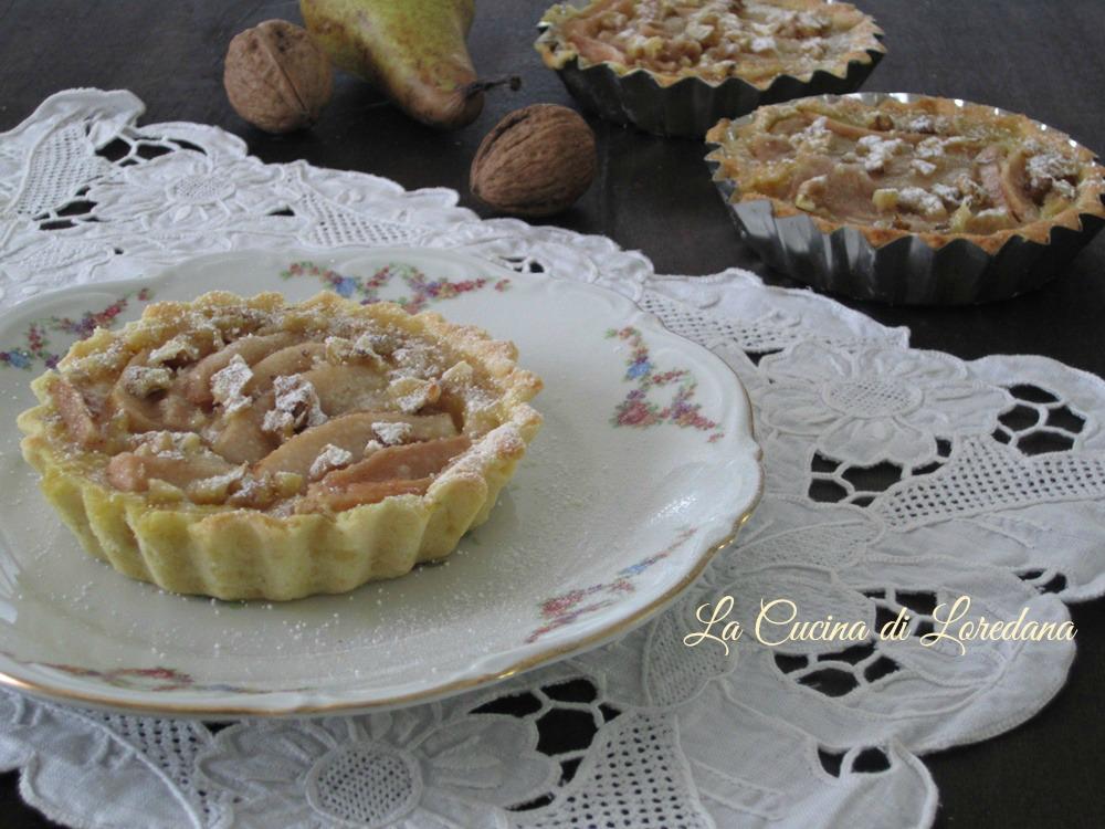 Crostatine di pere alle mandorle