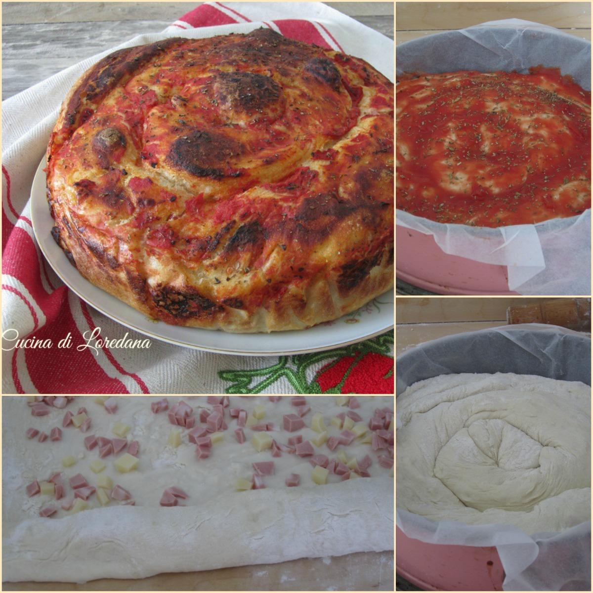 torta di pizza farcita