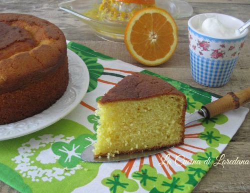 Torta soffice arancia e yogurt
