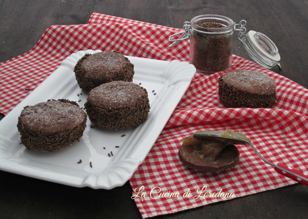 biscotti al cioccolato farciti